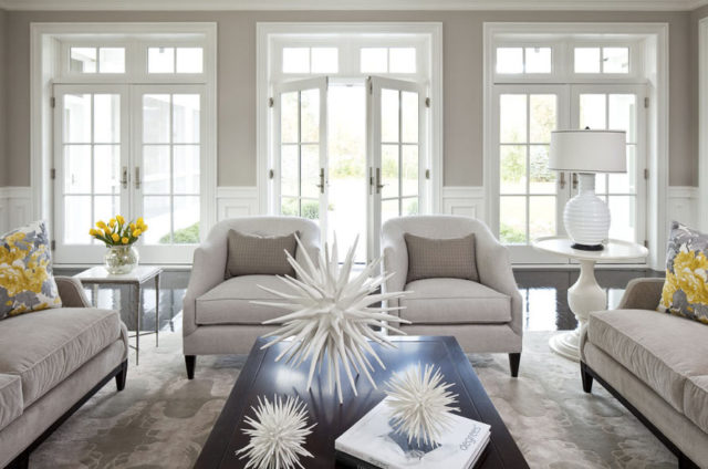Classic Lounge Featuring Welcoming Windows And Double Doors, With Modern  Furniture In Soft, Natural Part 45